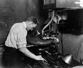 mechanical recording equipment