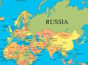 Russia and the surrounding country