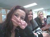 Lexie Bates, Mia Wheeler, and Taylor Crinklaw