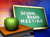 Future School Board Meetings
