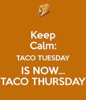 Thursday Taco Bar Lunch