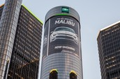 GM Wrapped the Iconic Detroit Renaissance Center with LED Lighting (US)