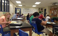 7th period students hard at work.