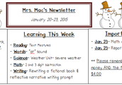 January 20-23 Newsletter