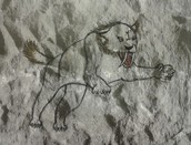 Prehistorisch dier op 'grotwand'