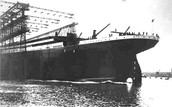 Titanic before it was launced