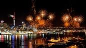 Christmas fireworks and displays