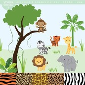 happy animals of the savannah