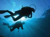 She scuba dives