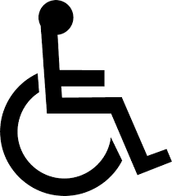 Awareness signs for people in wheelchairs