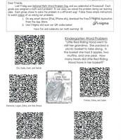 QR Code Sheet for Parents