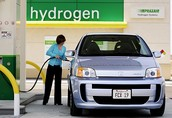 A Women Fueling Her Car with Hydrogen Fuel