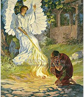 The angel appears to Gideon
