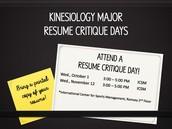 KINS Major Resume Critique Days