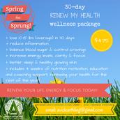 30-day *RENEW MY HEALTH* Wellness Program