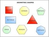 Use the shapes to make a geometric design