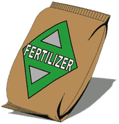 fertilizers and chemicals on lawns and fields