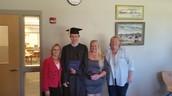 Ms. Girolamo, Chris, mom and Ms. Callagy