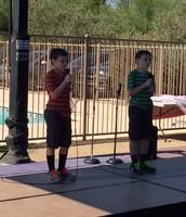 Max & Andrew singing Matilda