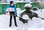 Front yard and backyard shoveling! (No Tax) (Not Real)