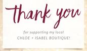 My Chloe + Isabel Newsletter