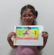 הודיה- דגל רקדנית