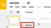 Google Slides: Edit the Slide Master