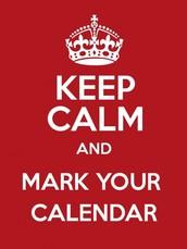 Mark your calendar: