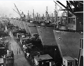 Liberty Ships in Dry Dock