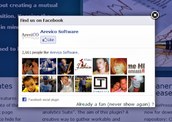 """Some sites even have their own pop-ups that lead you to their Facebook pages so that you can go """"Like"""" them."""