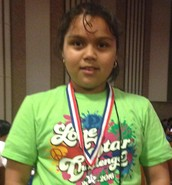 Jennifer 2nd Place in Math