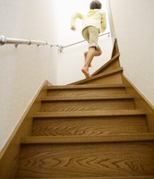running upstair's