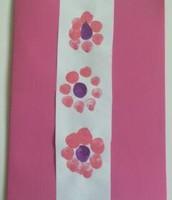 Fingerprint Flower Card