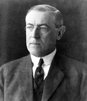 A wild Woodrow Wilson looking for more amendments to ratify.