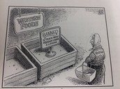 Who should be blamed in this cartoon?