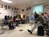 Mrs. Ivey teaching her class