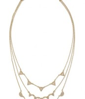 Pave Chevron Layered Necklace- Gold