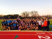 Feeder Pattern Unity Shines as Track Teams Practice