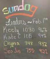 Sumdog Leaders February 1st