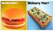 Items on India's Menu