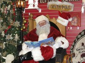 Santa reading a bedtime story