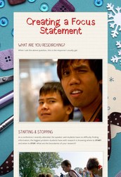 Lesson 2: Create a Focus Statement
