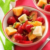 Sunny Strawberry & Cantaloupe Salad