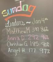 Last week's Sumdog Leaders