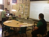 Kid's Court - Presenting text evidence with Mr. Vaden.