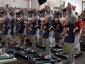 Chuck E. Cheese animatronics being programmed (tested)