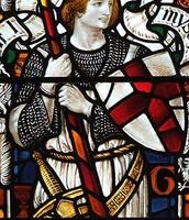 Sir Galahad and his shield