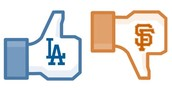 Dodgers de Los Angeles Vs Gigantes de San Francisco