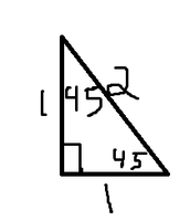 45-45-90 degree triangles