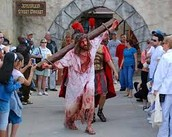 see the dramatic day when Jesus was taken to the cross